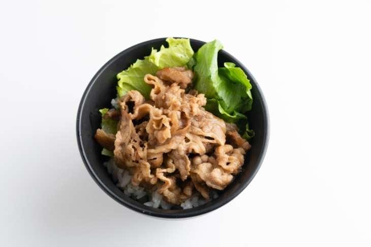 ノンストップ焼き肉ご飯のレタス包み
