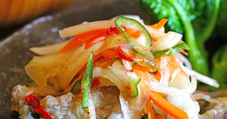 【ヒルナンデス】鯵のあんかけかば焼き丼(彩り野菜と鯵のかば焼き大葉風味のきのこあん)のレシピ。渥美まゆ美さんが教えるアジのベストな調理法(6月30日)