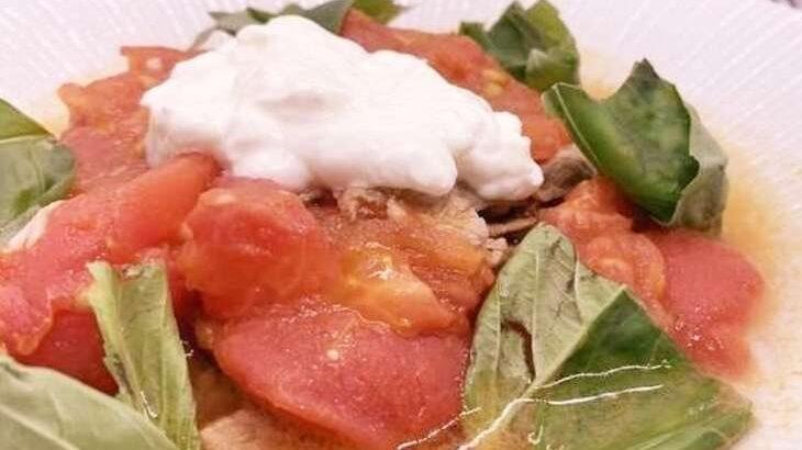 【土曜は何する】牛肉のトマト煮(牛トマ嫁アレンジ)のレシピ。和田明日香さんの地味ごはん(6月26日)