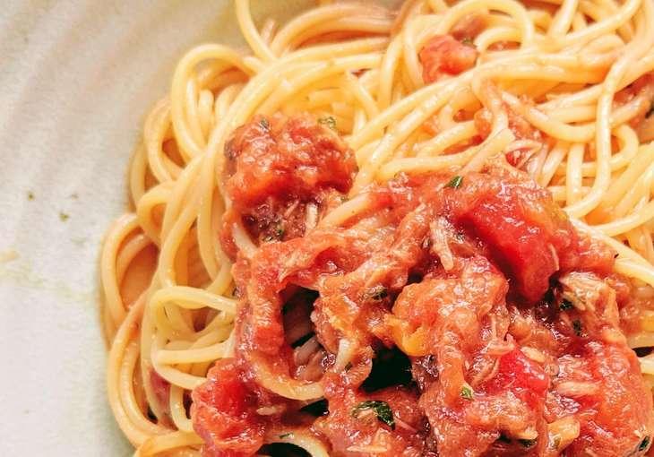 ヒルナンデストマトのカッペリーニ風春雨サラダ