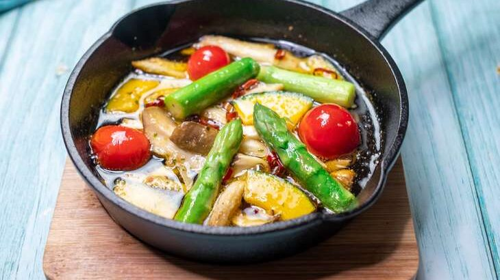 【あさイチ】夏野菜のアヒージョのレシピ。秋元さくらシェフの夏のお悩み解決料理(7月13日)