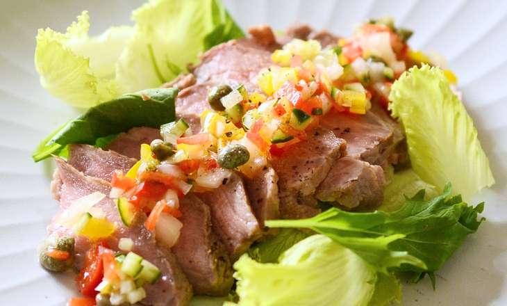 しまさん夏野菜の牛肉カルパッチョ