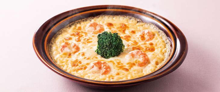 3種チーズの海老ドリア 878円(税込)