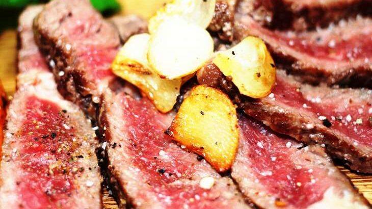 【ウワサのお客さま】まぐろのガーリックレアステーキライスのレシピ。時短クイーンの節約料理(9月3日)