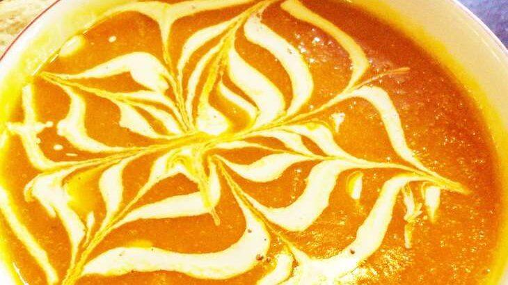 【土曜は何する】蜘蛛の巣カボチャスープのレシピ。10分ティーチャー(10月16日)